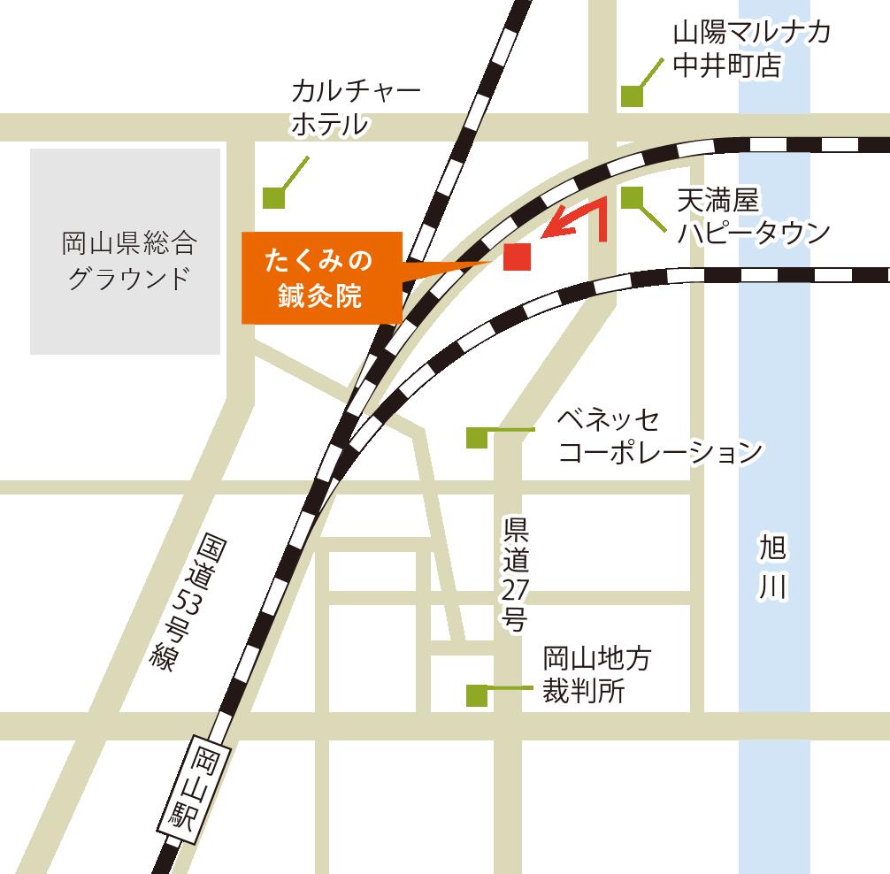 たくみの鍼灸院地図